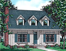 Cape Cod House Plan 68683 with 4 Beds, 2 Baths Elevation