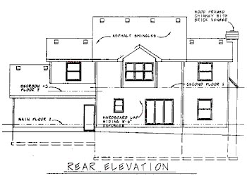 Country House Plan 68703 Rear Elevation