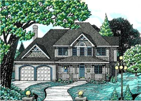 Country House Plan 68705 with 4 Beds, 3 Baths, 2 Car Garage Elevation