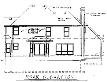 Country House Plan 68705 Rear Elevation