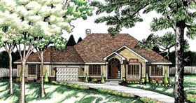 House Plan 68712 | Traditional Style Plan with 2057 Sq Ft, 3 Bedrooms, 2 Bathrooms, 2 Car Garage Elevation