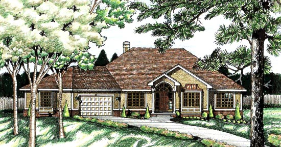 Traditional House Plan 68712 Elevation
