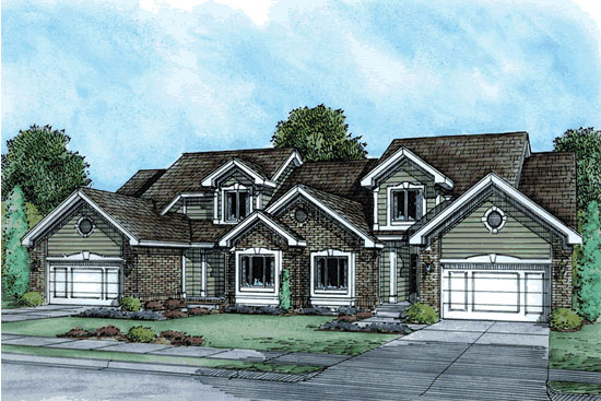 Ranch Traditional Multi-Family Plan 68714 Elevation