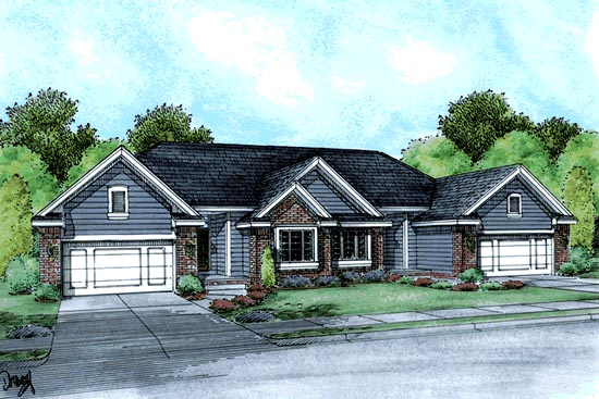Multi family plan 68715 at for Multi family modular homes prices