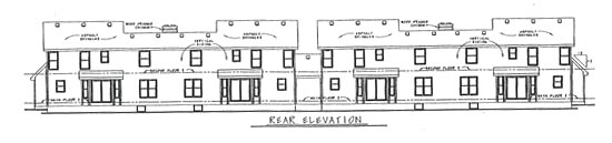 Ranch, Traditional Multi-Family Plan 68716 with 12 Beds, 12 Baths, 8 Car Garage Rear Elevation