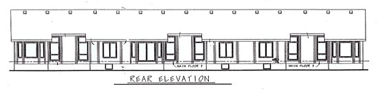 Ranch Traditional Multi-Family Plan 68719 Rear Elevation