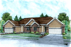 Ranch Traditional Multi-Family Plan 68724 Elevation
