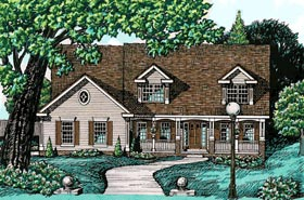 Country House Plan 68727 with 4 Beds, 4 Baths, 3 Car Garage Elevation