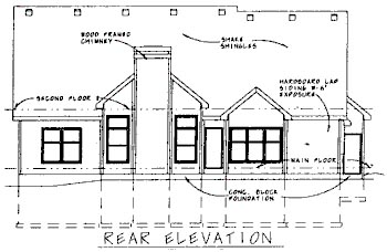 Country House Plan 68727 Rear Elevation