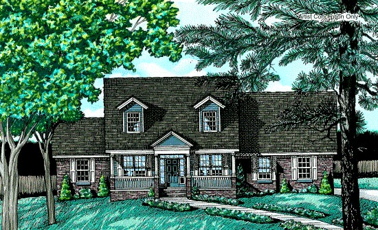 Country House Plan 68733 Elevation