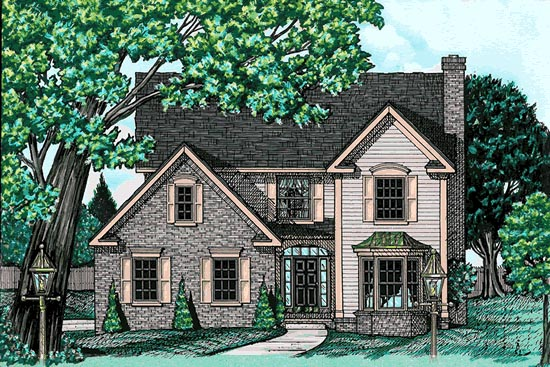 Country House Plan 68734 with 4 Beds, 3 Baths, 2 Car Garage Elevation