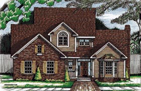 Country House Plan 68735 with 3 Beds, 3 Baths, 2 Car Garage Elevation
