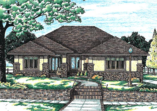 Contemporary House Plan 68743 Elevation