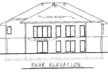 Contemporary House Plan 68743 Rear Elevation