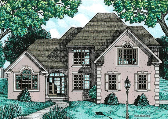 Traditional House Plan 68744 Elevation