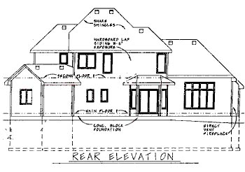 Traditional House Plan 68744 Rear Elevation