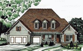 European Traditional House Plan 68750 Elevation