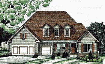 European Traditional House Plan 68750 Elevation