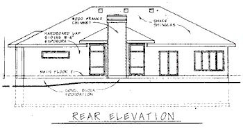 European Traditional House Plan 68750 Rear Elevation