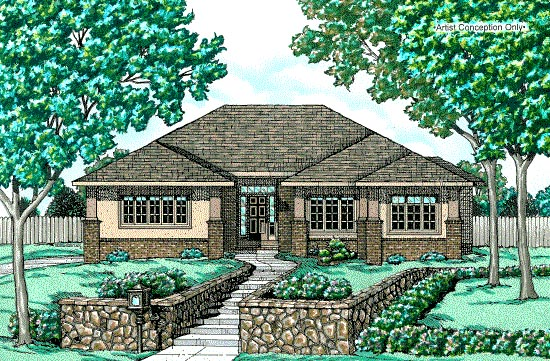 Contemporary House Plan 68751 Elevation