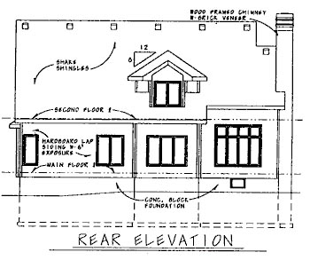 Country House Plan 68753 Rear Elevation