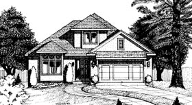 Contemporary House Plan 68763 with 3 Beds, 3 Baths, 2 Car Garage Elevation