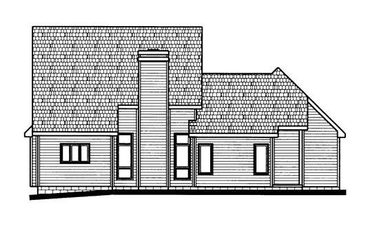 Country House Plan 68771 Rear Elevation