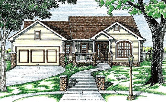 Traditional House Plan 68772 Elevation