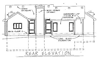 Traditional House Plan 68772 Rear Elevation