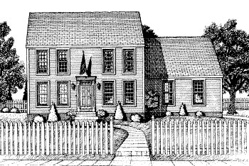 Colonial Elevation of Plan 68775