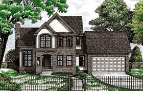 Traditional House Plan 68776 with 3 Beds, 3 Baths, 2 Car Garage Elevation