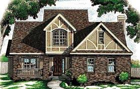 Country Tudor House Plan 68781 Elevation