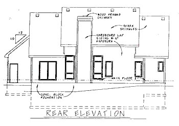 Country House Plan 68782 Rear Elevation