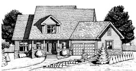 Country House Plan 68783 Elevation