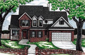 Traditional House Plan 68784 Elevation