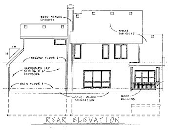 Traditional House Plan 68784 Rear Elevation