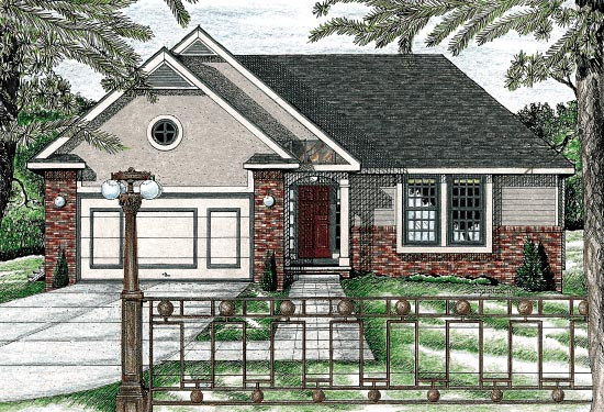 Traditional , Elevation of Plan 68785