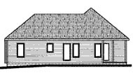 Traditional , Rear Elevation of Plan 68785
