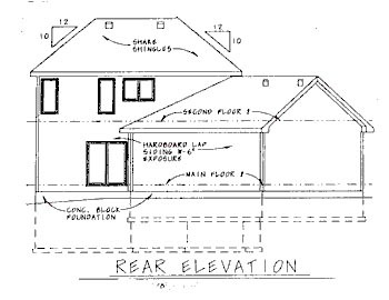 Traditional House Plan 68787 Rear Elevation