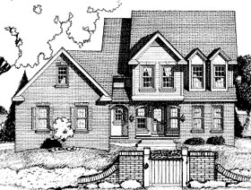 Country House Plan 68790 with 4 Beds, 3 Baths, 2 Car Garage Elevation