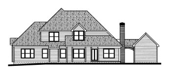 Traditional House Plan 68791 Rear Elevation
