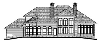 House Plan 68792 | Traditional Style House Plan with 3858 Sq Ft, 4 Bed, 5 Bath, 3 Car Garage Rear Elevation