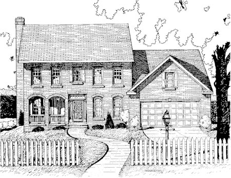 Colonial House Plan 68796 Elevation