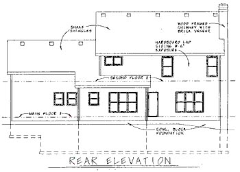 Colonial House Plan 68796 Rear Elevation