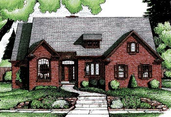 Traditional House Plan 68798 with 4 Beds, 3 Baths, 2 Car Garage Elevation