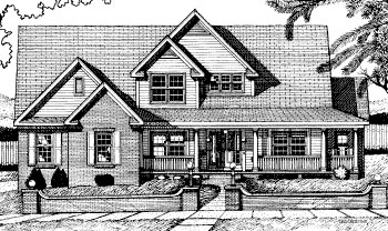 Country House Plan 68799 Elevation