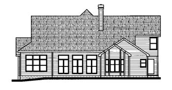Country House Plan 68799 Rear Elevation