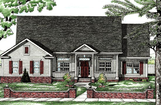 Country House Plan 68800 Elevation