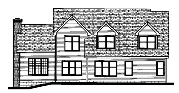 Country House Plan 68803 Rear Elevation