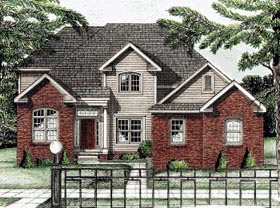 Traditional House Plan 68807 Elevation